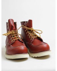 Red Wing Red Wing 8131 moc toe oro russet - Rojo