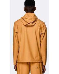 Rains Khaki Short Hooded Coat - Multicolor