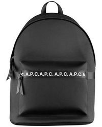 A.P.C. Savile Taped Logo Backpack Black