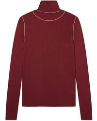 Paul Smith Roll Neck Jumper Burgundy - Red