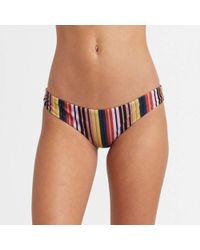 RVCA Talum Cheeky Bikini Bottom Burnt Red - Multicolor