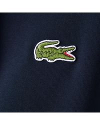 """Lacoste """"Made in France"""" Organic Cotton Fleece Hoodie Navy Blue - Azul"""