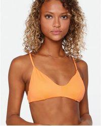 RVCA Einfarbiges Bikinioberteil mit Kreuzrücken Orange Crush