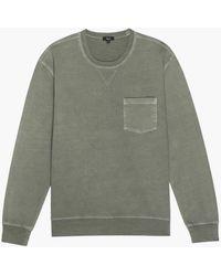 Rails Burke Sweatshirt Oliv - Grau