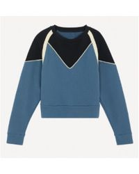 Ba&sh Https://www.trouva.com/it/products/baandsh-brick-sweatshirt - Blu