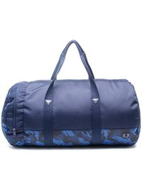 Fred Perry Borsa in Cordura Camouflage Navy - Blu
