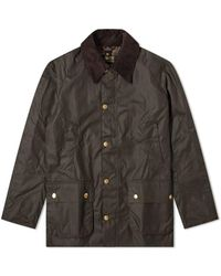 Barbour Ashby Wax Jacket Oliva - Multicolore