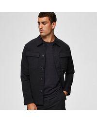 SELECTED Black Military Work Jacket