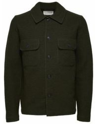 SELECTED Https://www.trouva.com/it/products/selected-homme-forest-night-neal-workwear-cardigan - Verde