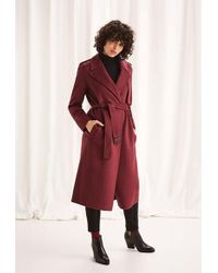 SELECTED Melange Earth Red Tana Coat