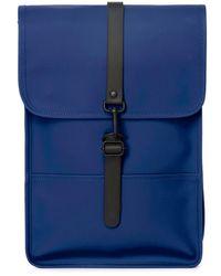 Rains Mini sac à dos de voyage unisexe imperméable Klein Blue - Bleu
