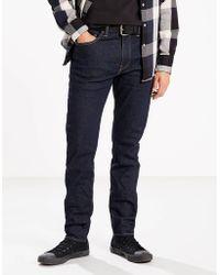 Levi's Jeans Dark Wash Cotton 512 Slim Taper Fit Rock Cod - Blu