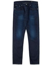 Edwin - Tapered Blue Modern Regular Japanese Stretch Denim Dark Used Jeans - Lyst