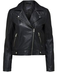 SELECTED Https://www.trouva.com/it/products/selected-femme-lamb-leather-jacket - Nero