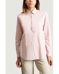 Folk Boyfriend Shirt - Pink