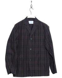 Kestin Hare Stac Blazer Khouss 1901 Bws Black Watch Stripe - Negro