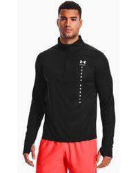Under Armour Camiseta Hombre Speed Stri Shock 1⁄2 Zip Negro - Multicolor