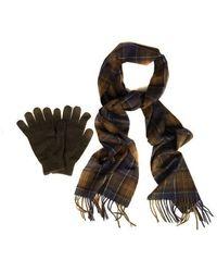 Barbour Set de regalo de bufanda y guante Classic Olive - Multicolor