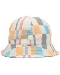 Folk Bucket Hat Archive Multicheck - Blu
