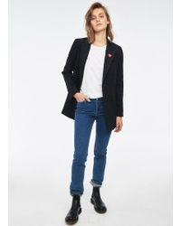 Zoe Karssen Wool Blend Blazer - Black