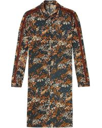 Maison Scotch Blossom Print Shirt Dress - Brown