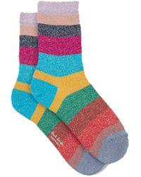 Paul Smith Osha Stripe Lurex Socken - Blau