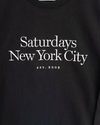 Saturdays NYC Black Crew Neck Sweatshirt