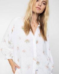 Rails Camicia Natalie Vintage Palms - Bianco