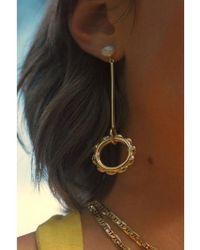 Maria Black Orecchino a forma di fiore perlato barocco - Metallizzato