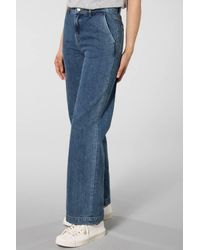 SELECTED Jeans blu medio Mary Wide Belle Blue