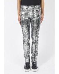 McQ Metallic Sliver Strummer Jeans