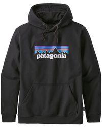 Patagonia Sweat à Capuche Ms P 6 Logo Uprisal Noir - Multicolore