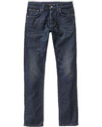 Nudie Jeans True Dusk Grim Tim Slim Fit Jeans - Blue