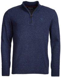 Barbour Tisbury Half Zip Knit Azul Marino