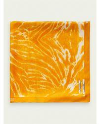 Scotch & Soda Bufanda estampada con efecto tie dye - Amarillo