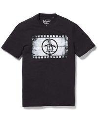 Original Penguin Filmrolle Kleidung T-Shirt Schwarz