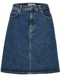 SELECTED Falda clásica mezclilla azul 'Freja'