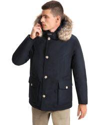 Woolrich Artic Abnehmbarer Pelz Anorak Melton Blau
