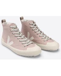 Veja Nova Babe Pierre Leinwand Hi Top Sneakers - Pink