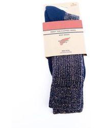 Red Wing Navy Deep Toe Capped Wool Socks - Blue