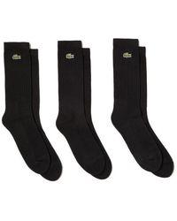 Lacoste Calcetines deportivos 3 Pack Ra 7621 Triple Black - Negro