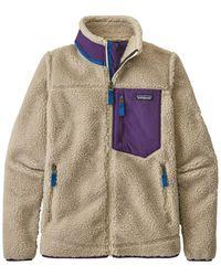 Patagonia Natural/purple (npu) Ws Classic Retro-x Fleece Jacket - Multicolor
