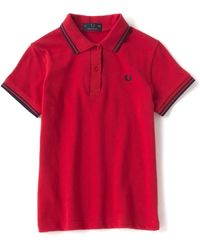 Fred Perry Chemise Rouge Twin Tipped G12 872