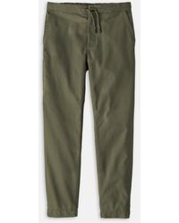 Patagonia Twill Traveler Pant In Industrial Green