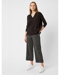 Great Plains Pantalones de tweed modernos en negro multicolor