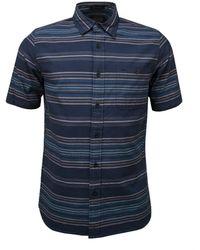 Pendleton - Kay Street SS Shirt Indigo Streifen - Lyst