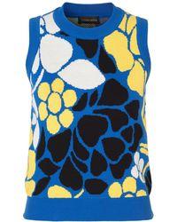 Stine Goya Schafgarbe Weste Violet Banana Leaf Nachhaltig - Blau