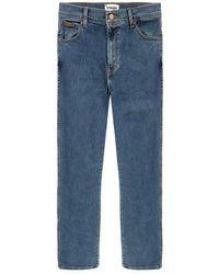 Wrangler Texas Stretch Stonewash Jeans - Blue