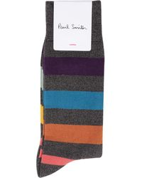 Paul Smith Quark Twist Socken Grauer Streifen