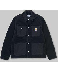 Carhartt Dark Navy Rinsed Michigan Coat S - Blue